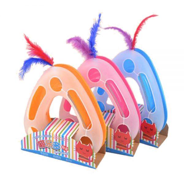 اسباب بازی گربه طرح سه گوش happy-oirole